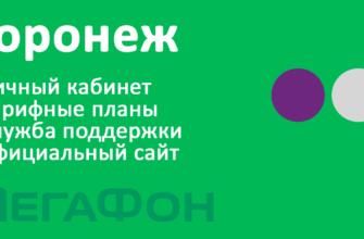 Мегафон Воронеж - новые тарифы, вход в личный кабинет