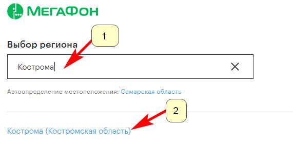 Официальный сайт Мегафон Кострома