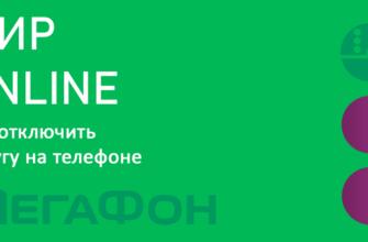 Услуга Мегафон МИР Онлайн - описание, подключение и отключение